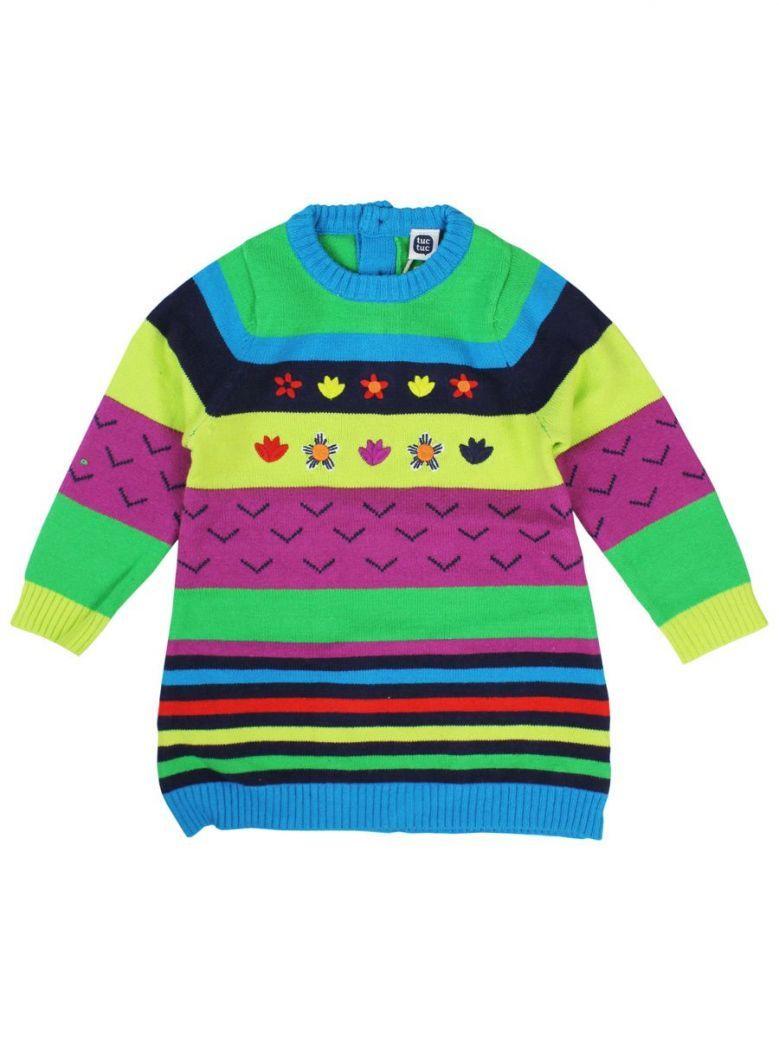 Tuc Tuc Multi Stripe Knitted Dress