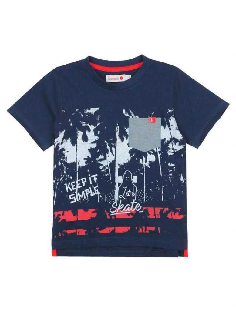 Boboli Navy Print T-Shirt