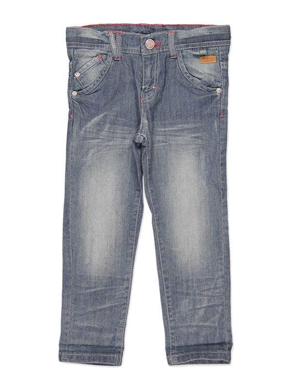 Boboli Blue Denim Stretch Trousers