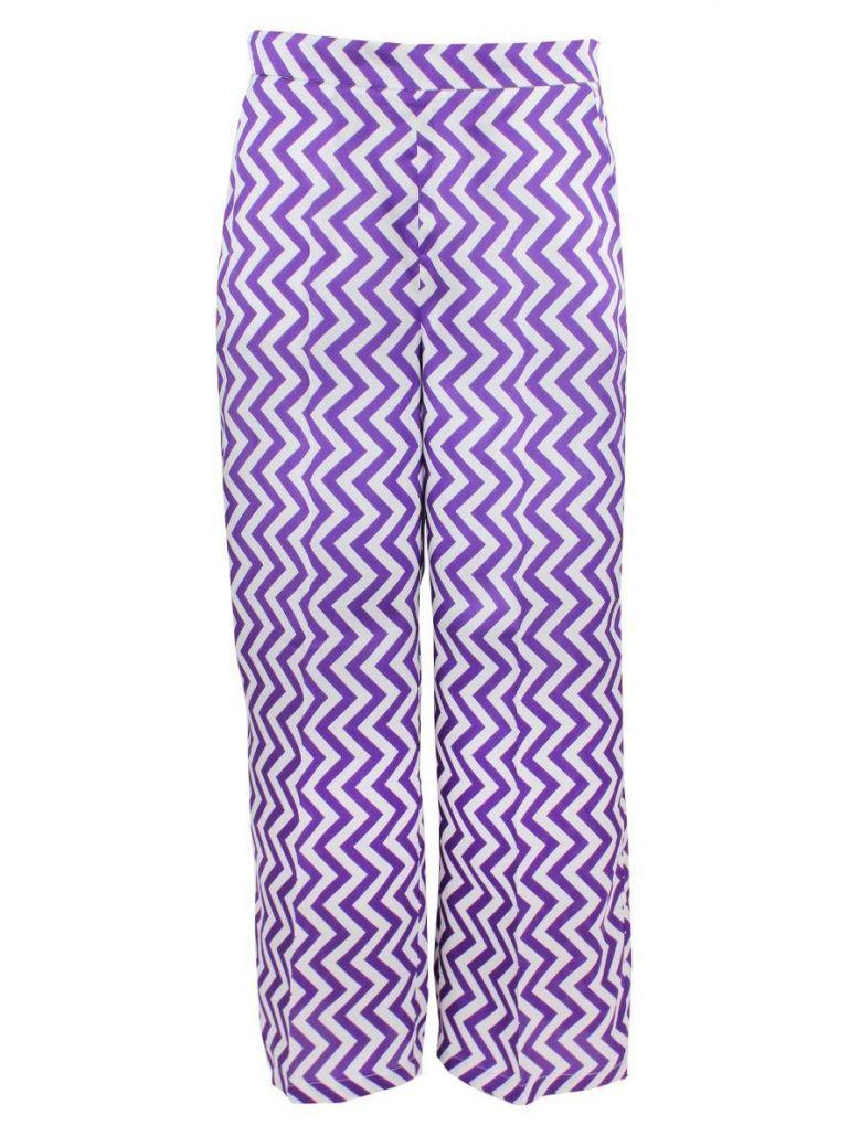 Emme by Marella Purple Chevron Culotte Trousers