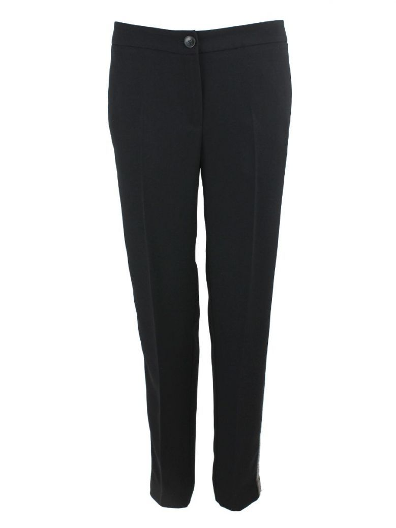 Emme By Marella Black Sequin Detail Trousers