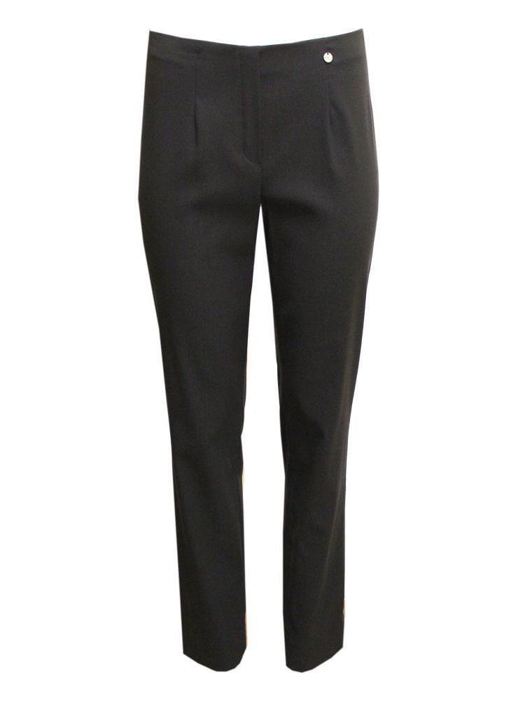 Robell Black Slim Fit Trousers (Style: Marie)