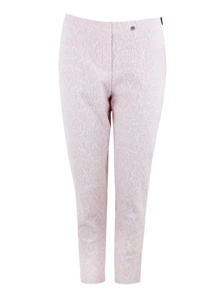 Robell Pastel Pink Filigree Jacquard Trouser (Bella 09)