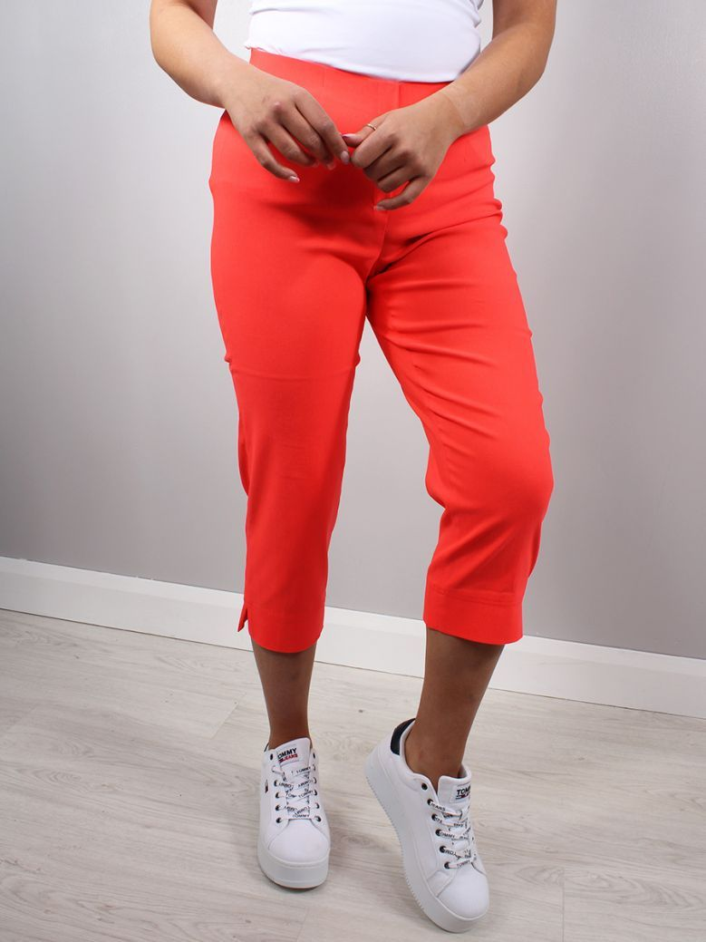 Robell Orange Cropped Trousers