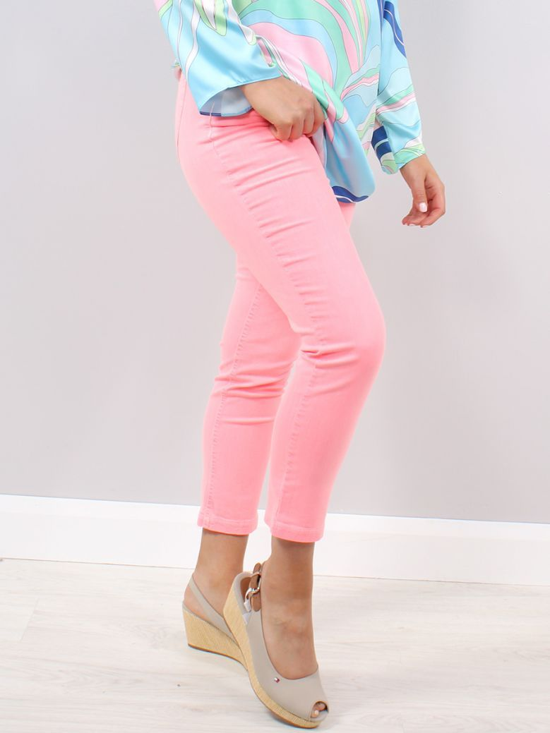 Robell Fluro Coral Elena Slim Fit Jeans