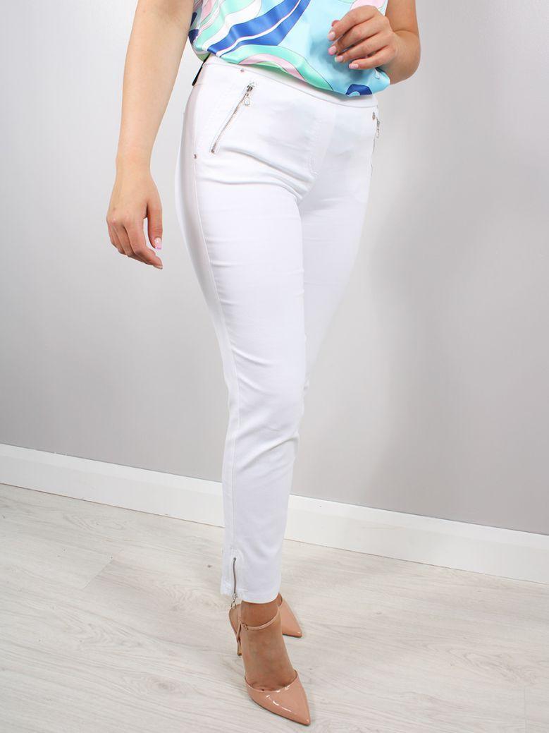 Robell White Nena 7/8 Trousers