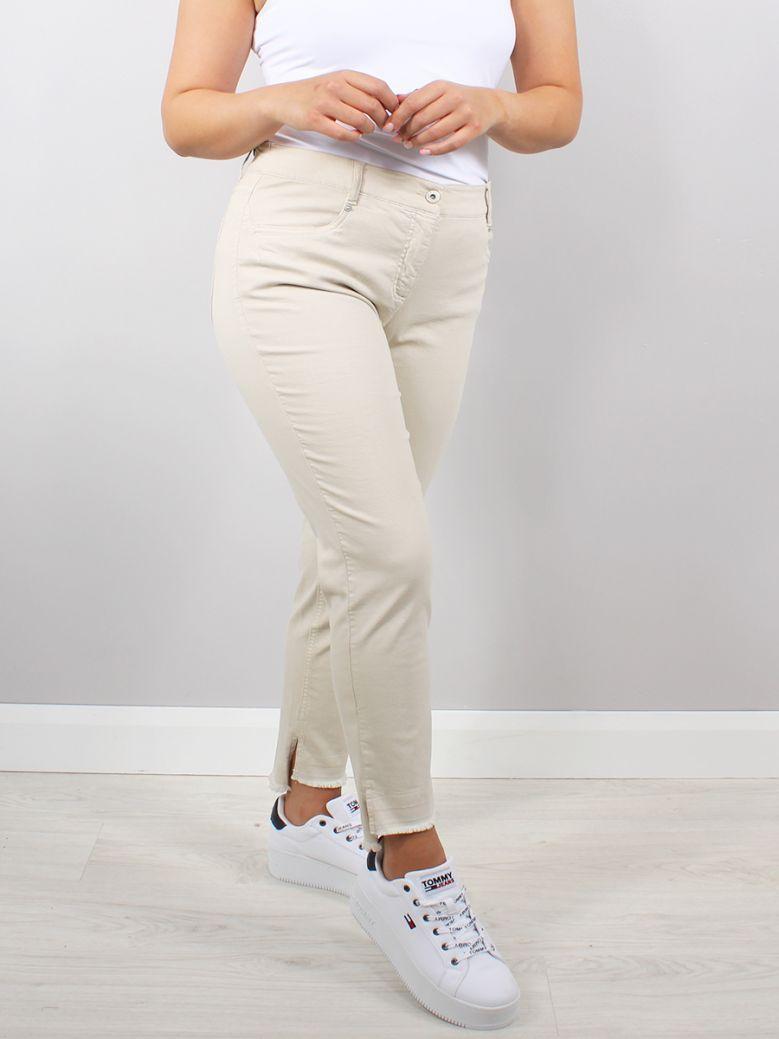 Robell Beige Elena Slim Fit Jeans