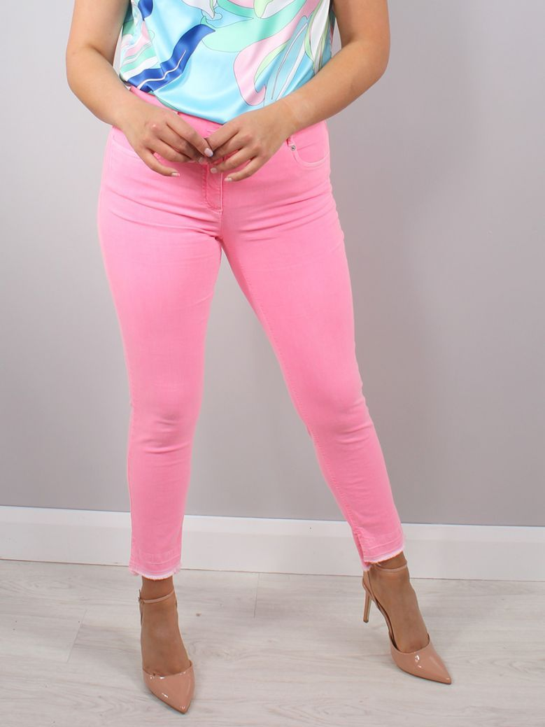 Robell Fluro Pink Elena Slim Fit Jeans