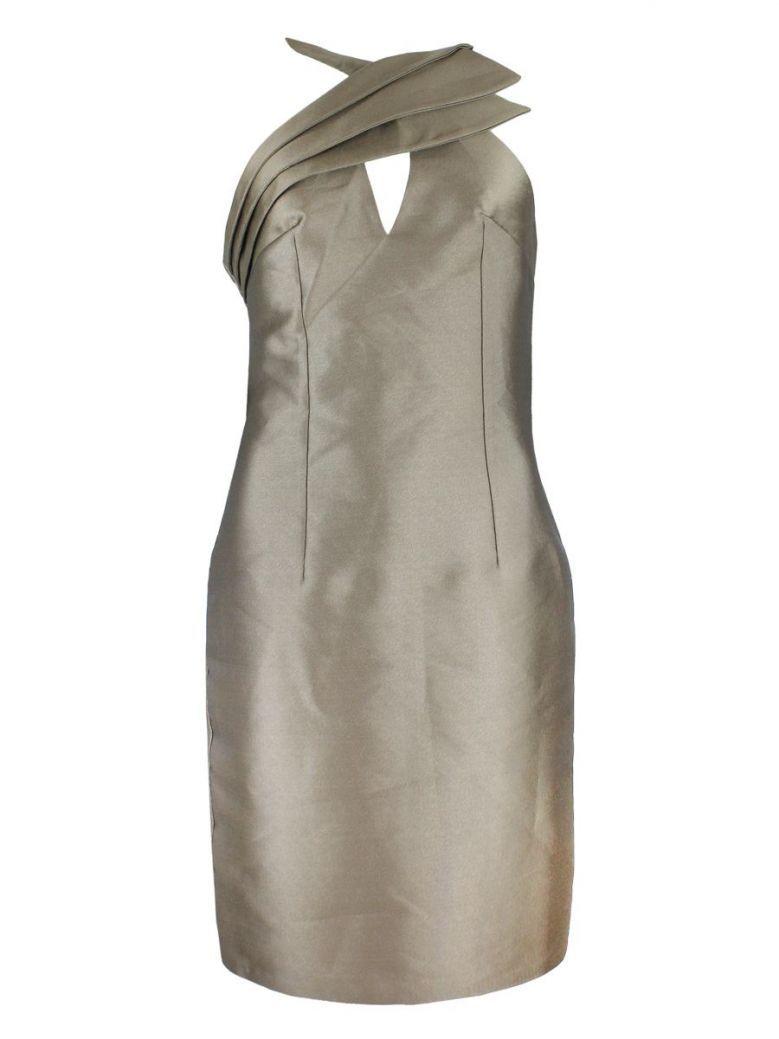 Red & Royal Bronze Halter Neck Dress