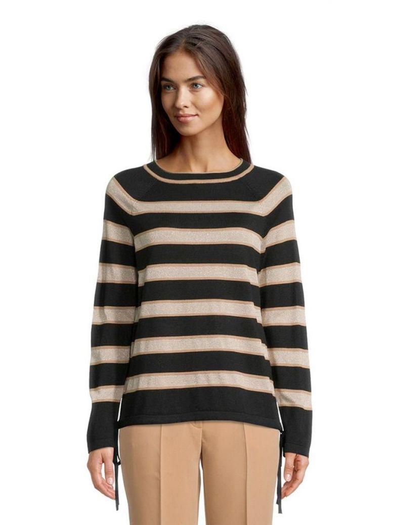 Betty Barclay Black Stripe Fine Knit Jumper