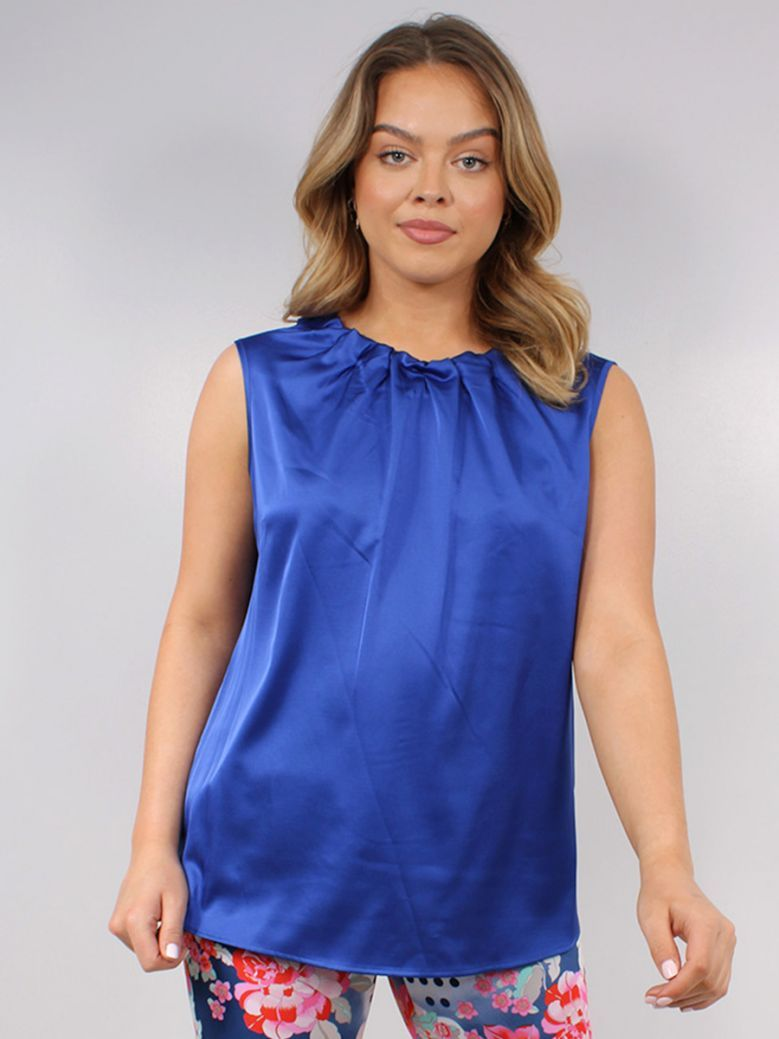 Robell Blue Alice High Neck Top