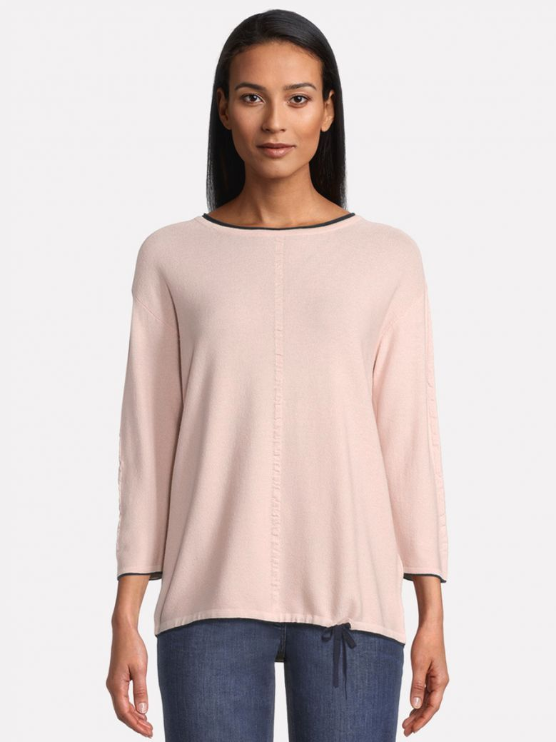 Betty Barclay Pink Fine Knit Sweater with 3/4 Arm