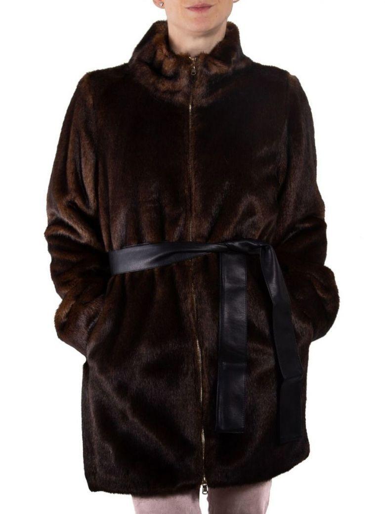 Emme by Marella Mosto Brown Faux Fur Jacket