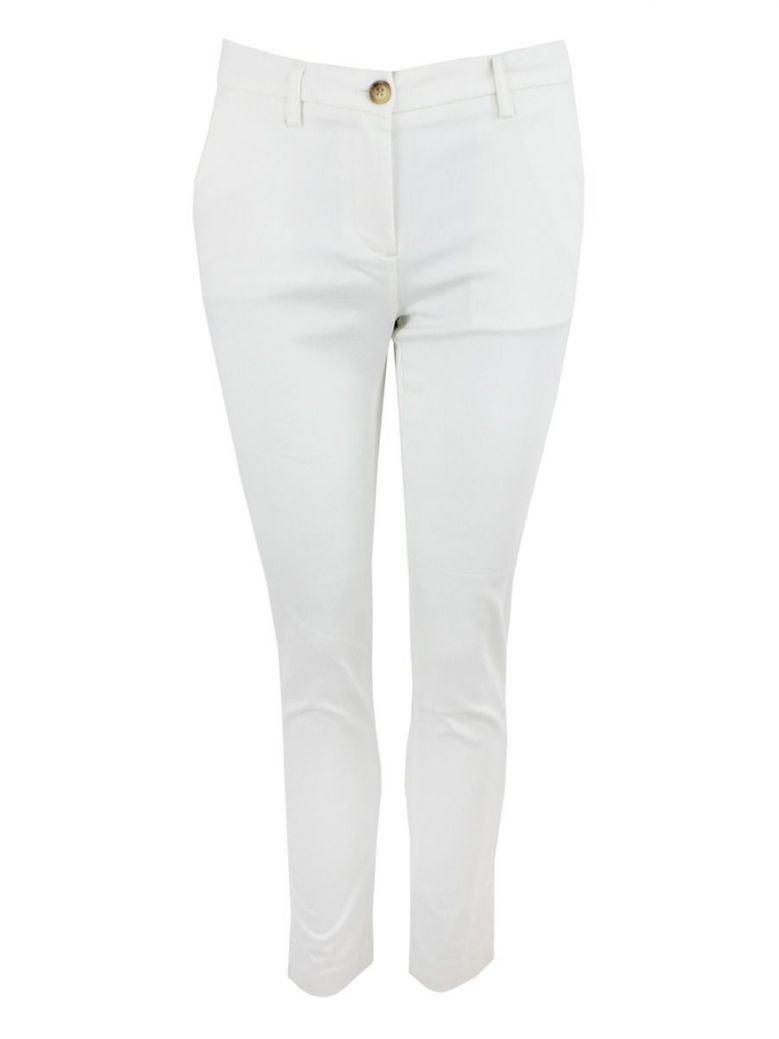 I Say Broken White Chino Deco Trousers