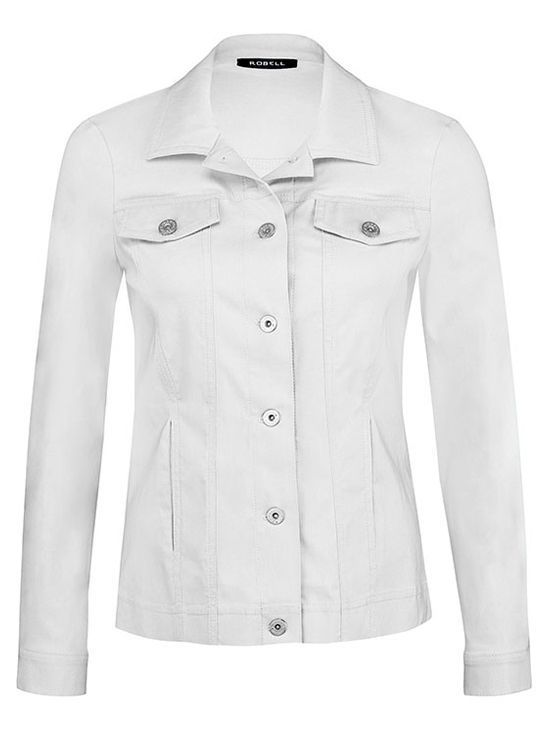 Robell White Button Up Jacket