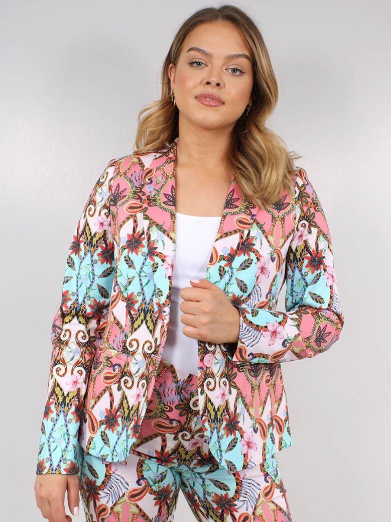 Robell Multi-Coloured Floral Detail Linda Jacket