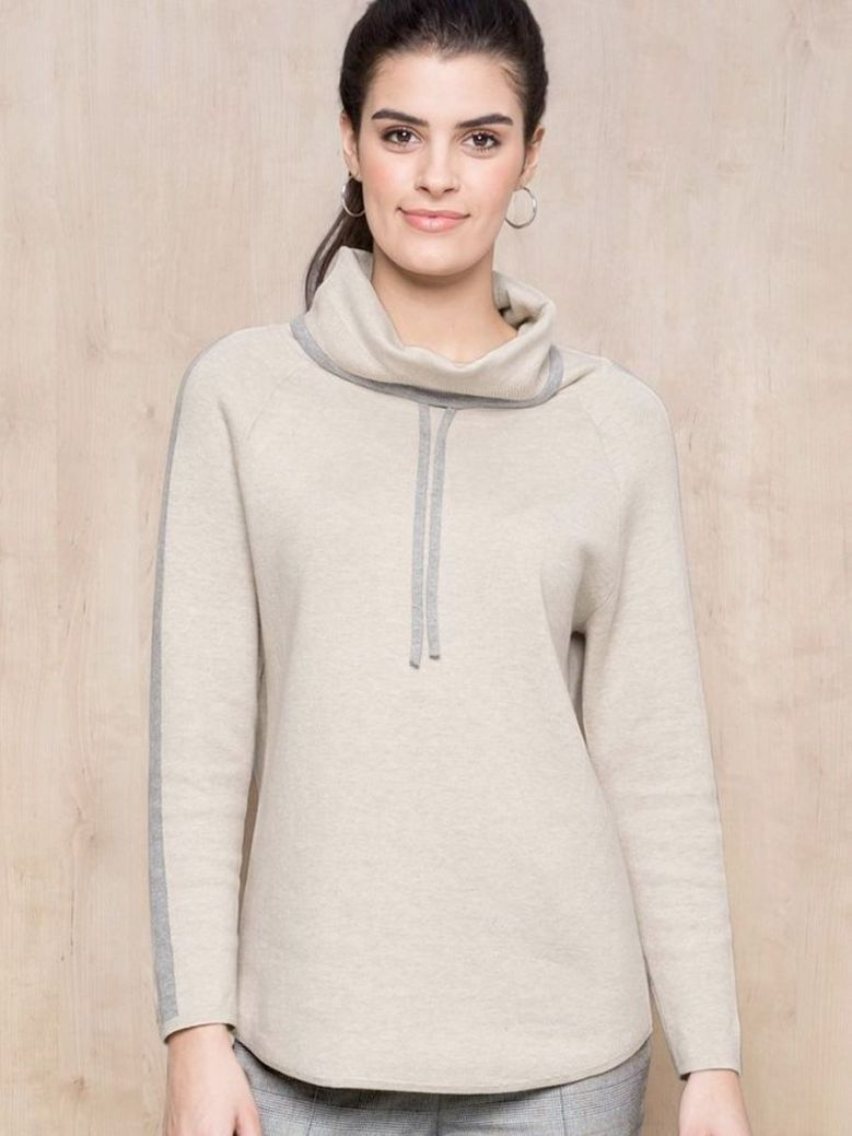 Bianca Beige Daris Wool Sweater