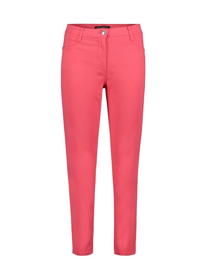 Betty Barclay Coral Pink Mid Rise Slim Fit Jeans