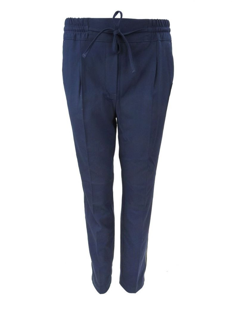 Betty Barclay Navy Straight Elastic Waist Trousers