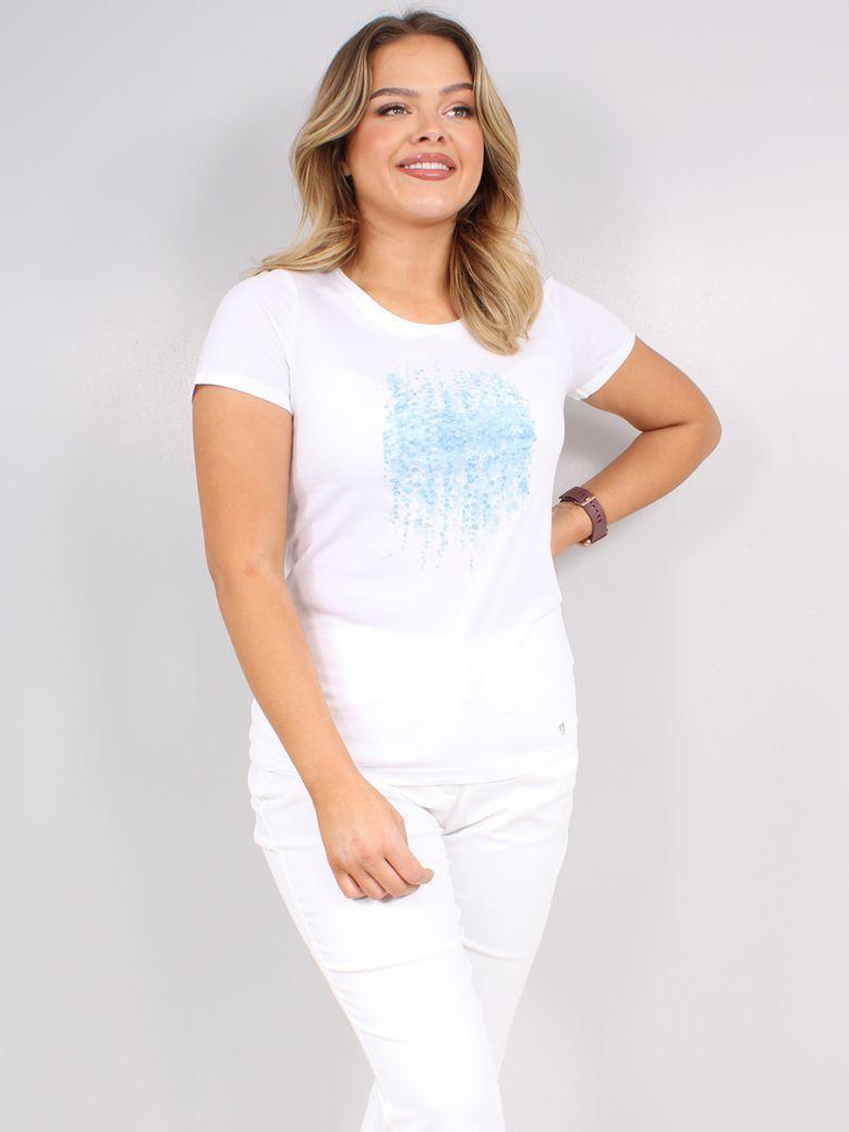 Marble White Printed T-Shirt