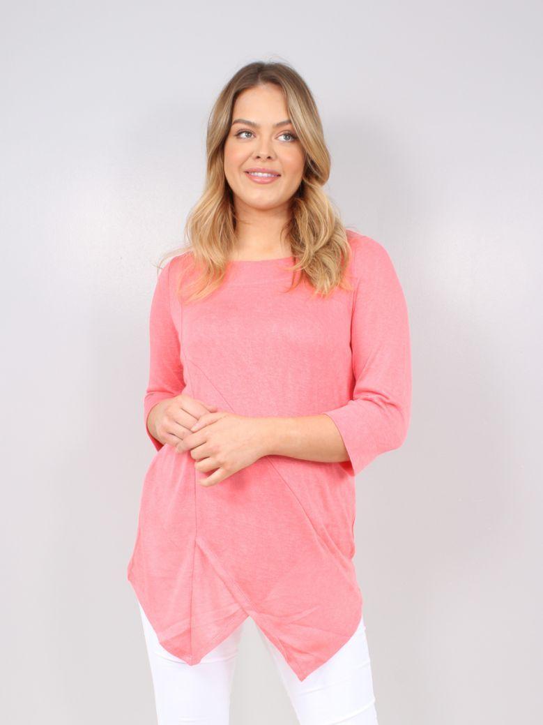 Marble Pink 2 Piece Top & Vest Set