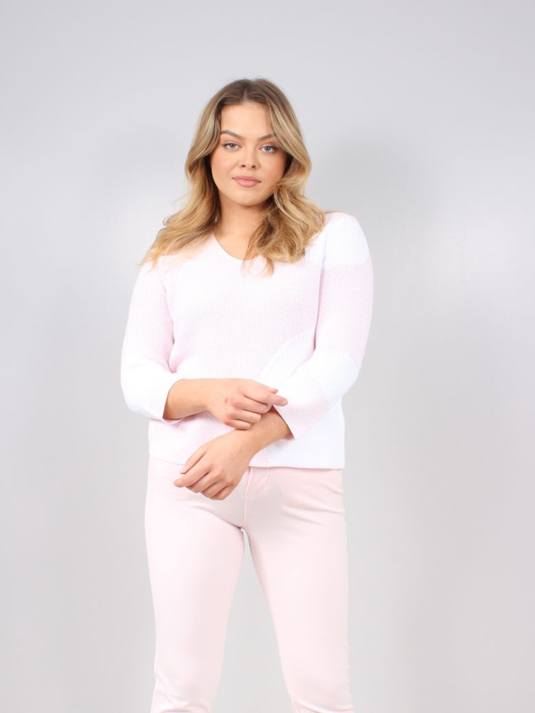 Marble Pink Circle Print Knitted Jumper