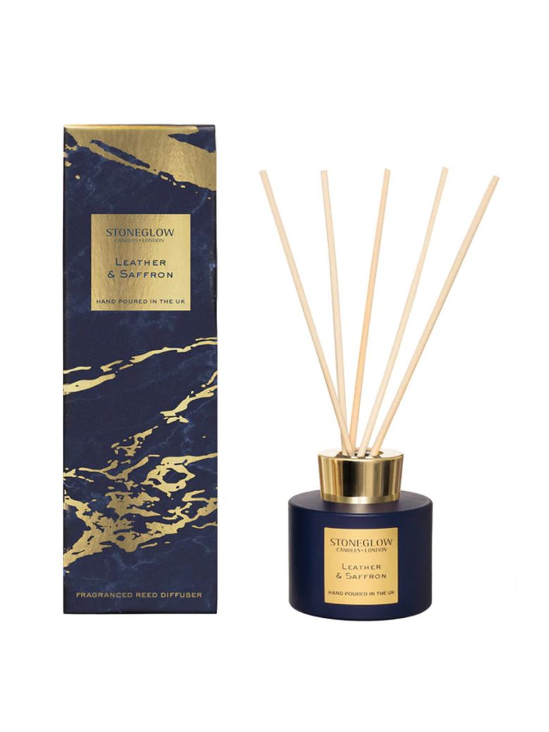 Stoneglow Luna Leather and Saffron Reed Diffuser
