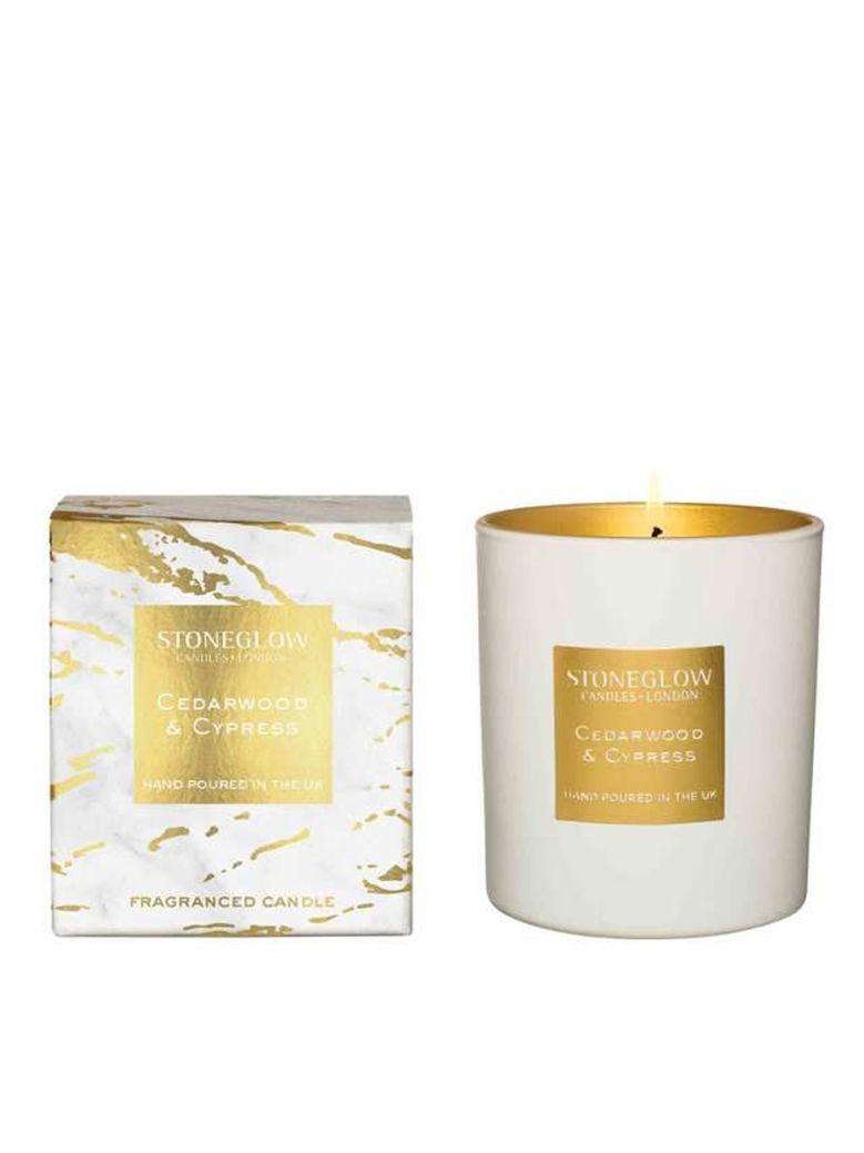 Stoneglow Luna Cedarwood and Cypress Tumbler Candle