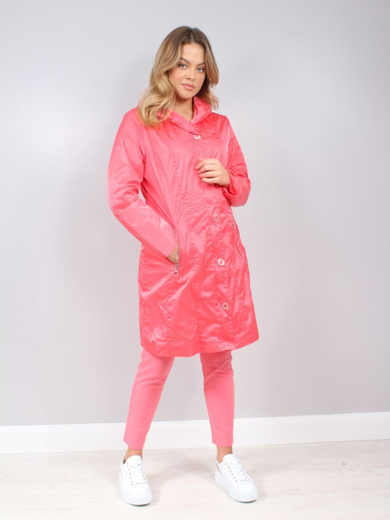 Marble Pink Lightweight Hooded Jacket