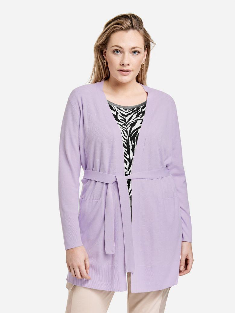 Samoon Purple Longline Cardigan