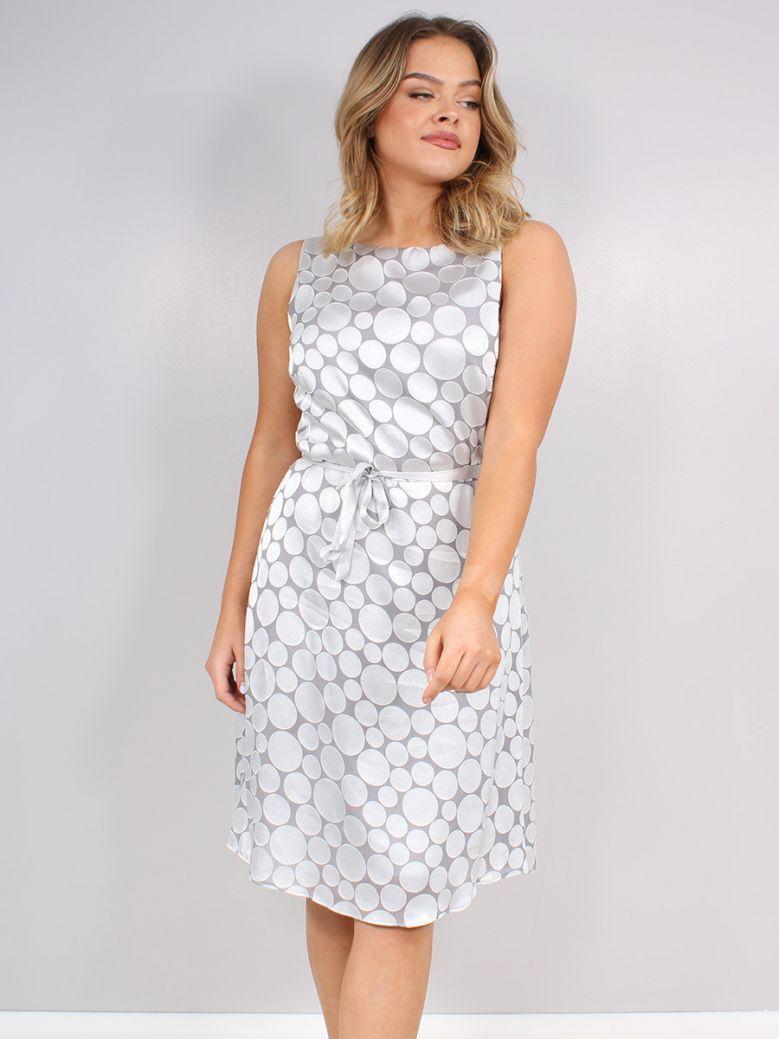 Bianca Grey Filis Skater Dress