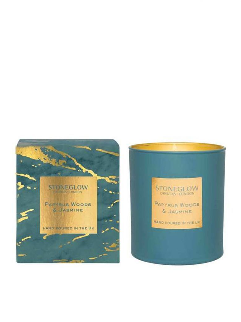 Stoneglow Papyrus Woods and Jasmine Tumbler Candle