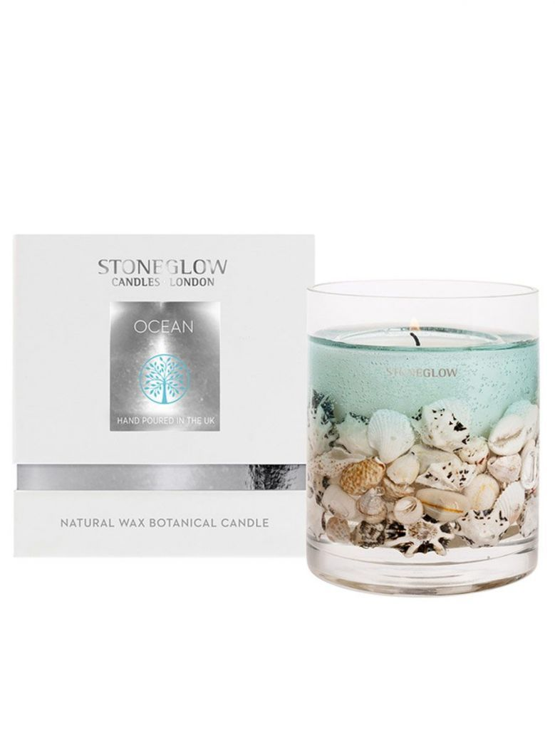 Stoneglow Nature's Gift Ocean Natural Wax Gel Candle Vase