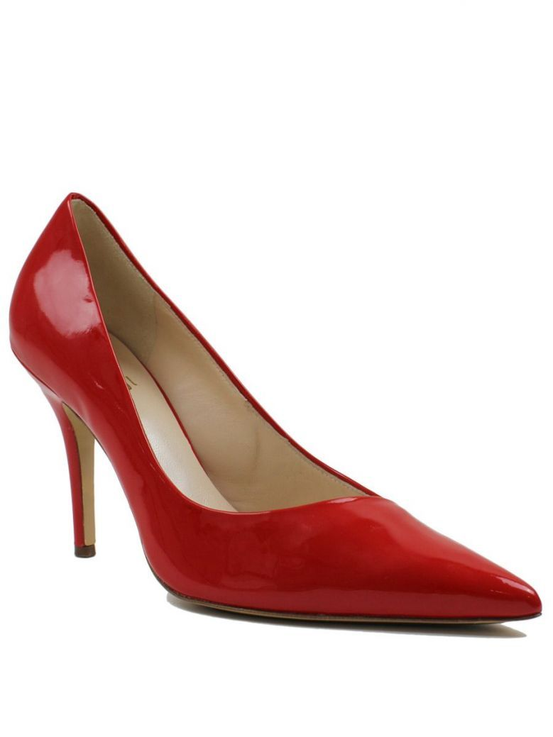 Hogl Scarlet Red Pointed Toe Patent Heels