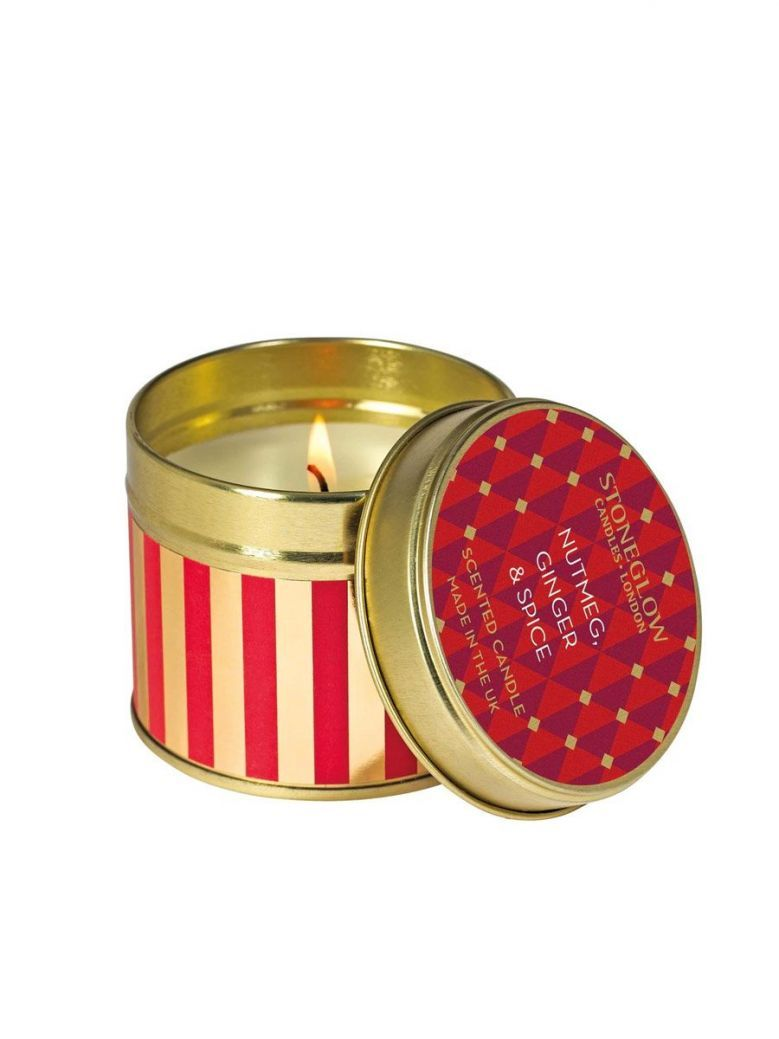 Stoneglow Nutmeg, Ginger and Spice Scented Tin Candle