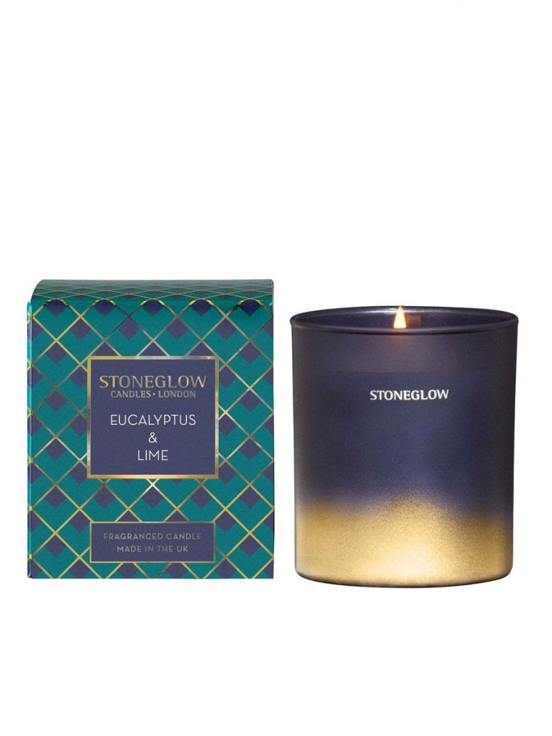 Stoneglow Eucalyptus and Lime Fragranced Candle