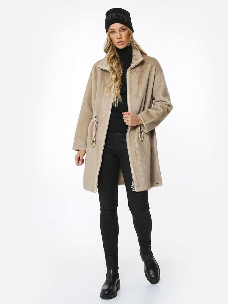 Rino & Pelle Natural Bandit Reversible Faux Fur Coat