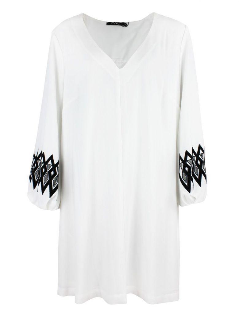 Mat Off-White Detailed Sleeve Tunic Dress