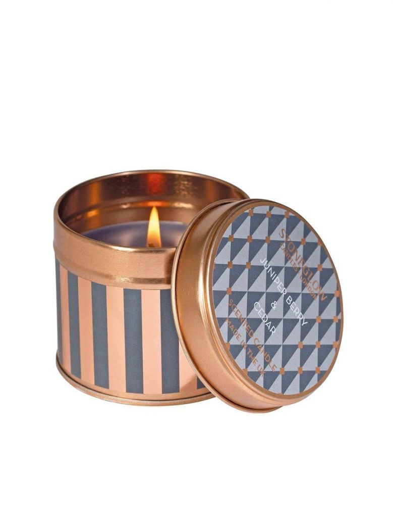 Stoneglow Juniper Berry and Cedar Scented Tin Candle