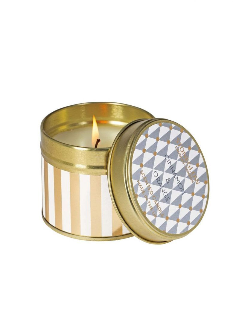 Stoneglow Cinnamon and Orange Scented Tin Candle