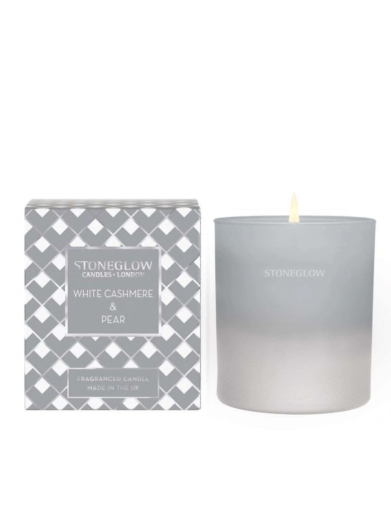 Stoneglow White Cashmere and Pear Fragranced Candle