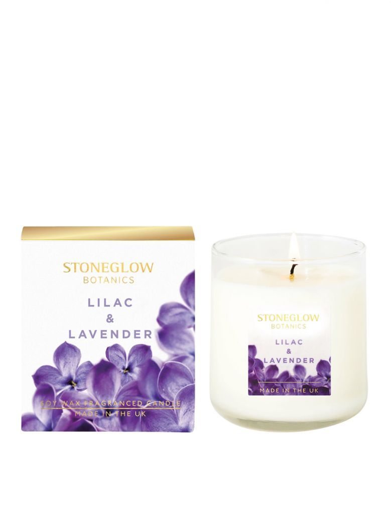 Stoneglow Botanic Lilac and Lavender Boxed Scented Candle