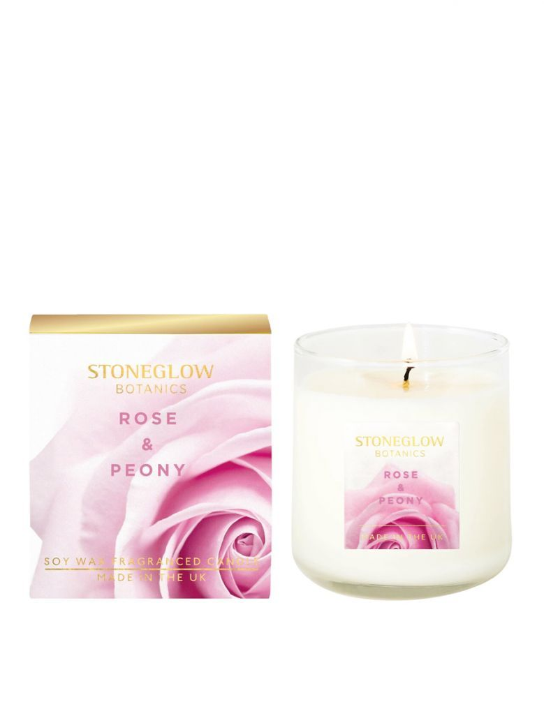 Stoneglow Botanic Rose and Peony Boxed Scented Candle
