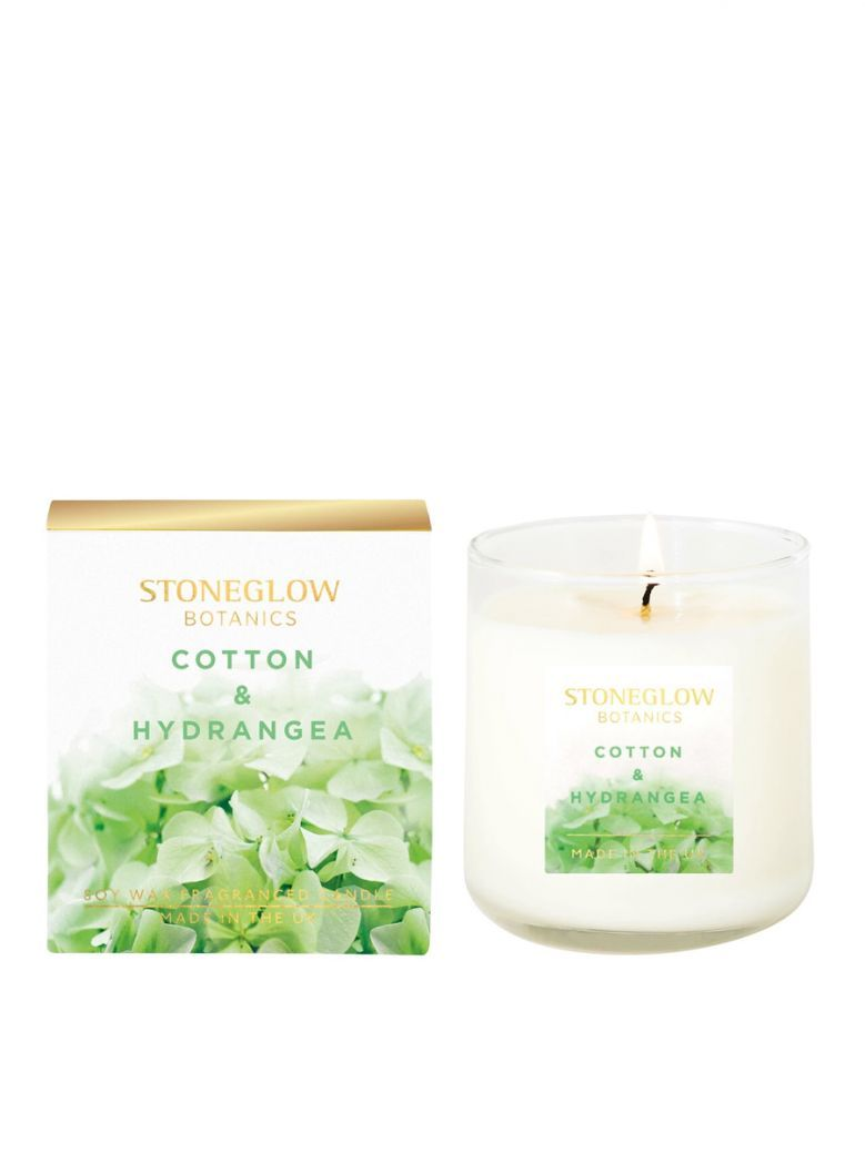 Stoneglow Botanic Cotton and Hydrangea Boxed Scented Candle