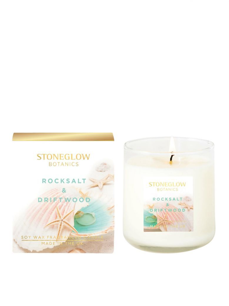 Stoneglow Botanic Rocksalt and Driftwood Boxed Scented Candle
