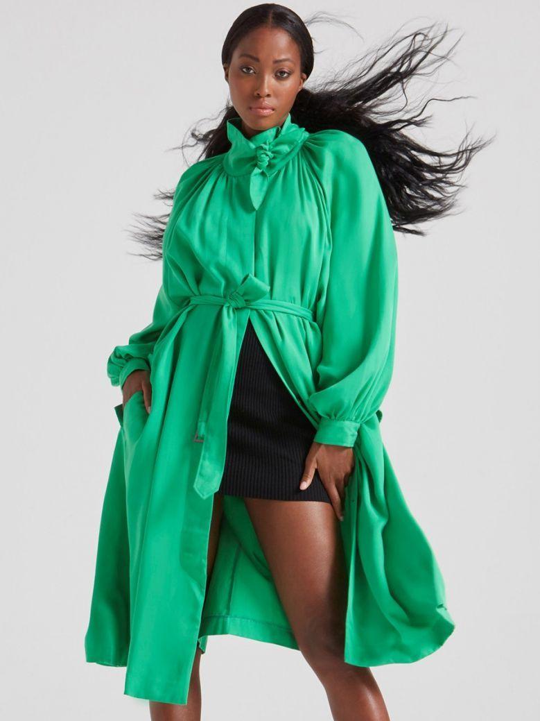 French Connection Palm Green Adula High Neck Midi Dress