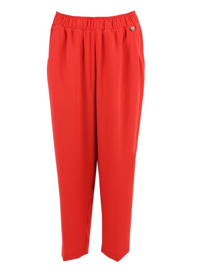 Mat Red Straight Leg Trousers