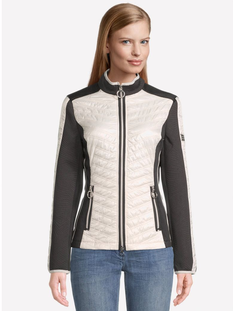Betty Barclay Quilted Jacket with Stand-Up Collar