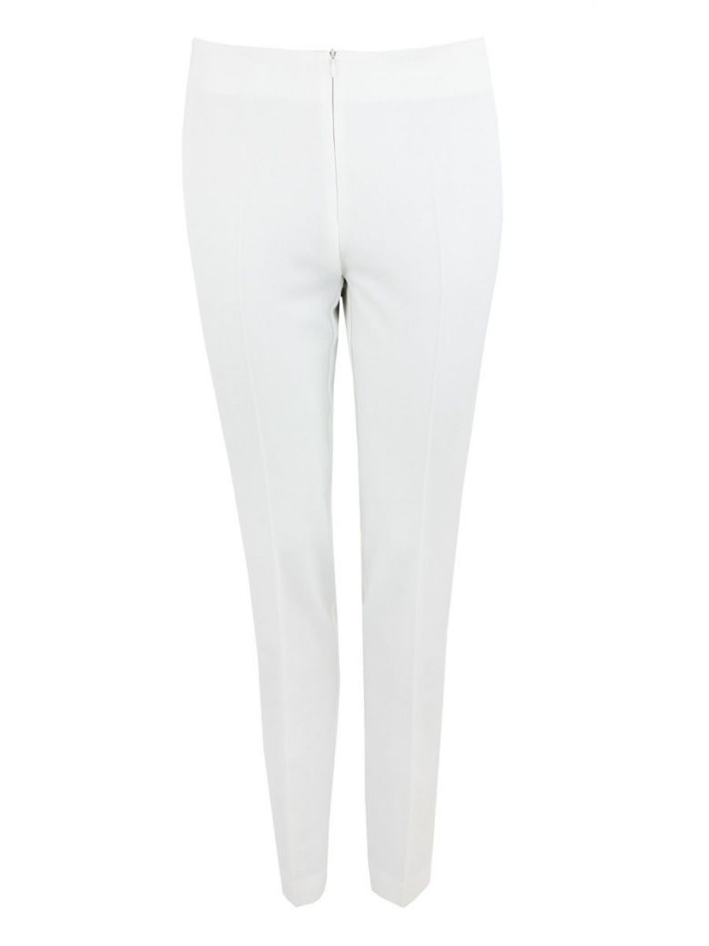 Tia Off-White Slim Fit Trousers
