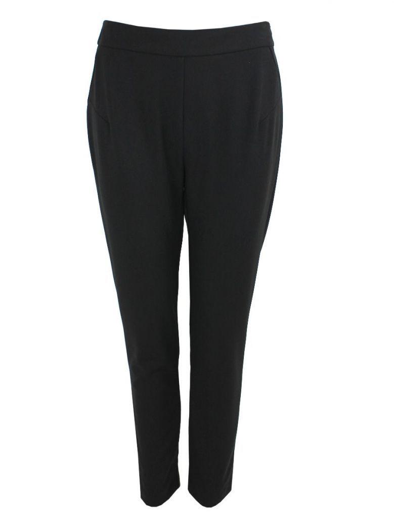 Tia Black Jersey Trousers